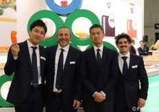 TSI ITALIA, Ryota Sakamoto (corporate planning manager - Top Seeds), Rosario Privitera (area manager), Tetsu Watanabe (general manager AgriScience div. MITSUI Co.), Giovanni Causarano (tecnico commerciale).