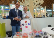 In fiera è stato presentato l'accordo tra l'impresa siciliana Barbera International e Berryway. In foto: Alessandro Barbera e Carlo Lingua