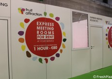 "A Fruit Attraction anche delle ""express meeting rooms"": con 80 euro all'ora uno spazio per riunioni d'affari."