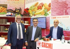 Roberto Bucchi (CEO), Danilo Zama (packaging sales manager) e Michele Falasca (montatore meccanico) di Sacmi Packaging Spa di Imola (BO).
