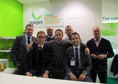 Nuova edizione, nuovo entusiasmo per il team Agriges, societa' specializzata nella nutrizione vegetale biologica e integrata. Da sinistra a destra: Antonio Ardolino (responsabile marketing), Giuseppe Blanco (area commerciale Italia), Domenico Giuseppe Crispo (settore tecnico-agronomico/R&D), Tullio Santagata (area commerciale Italia), Jose Nicolau (area commerciale Spagna), Pio Guarino (finance manager/responsabile mercato estero), Giovanni Tancredi (presidente).