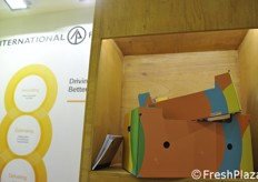 International paper, un angolo dello stand.